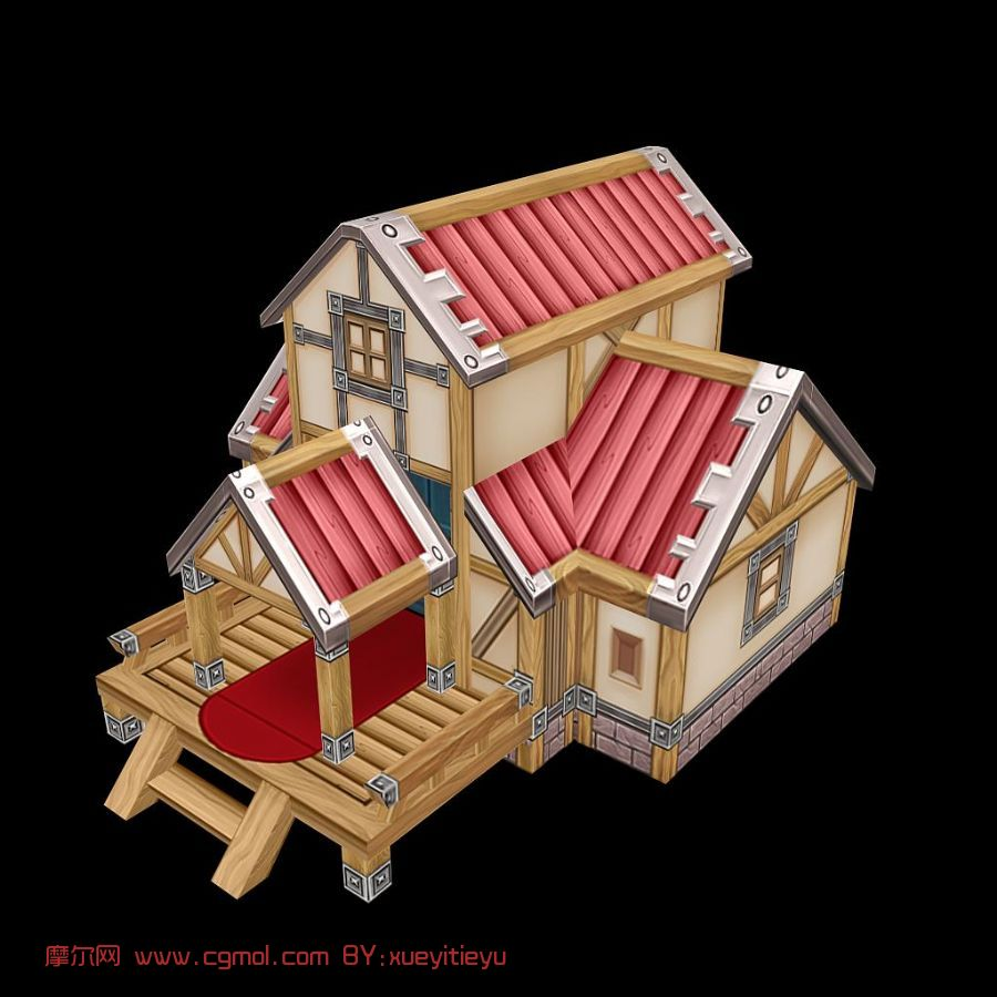 q版可爱小木屋,卡通房子图片