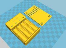 四位镍氢充电器外壳,电器配件max模型