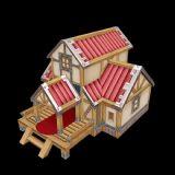 Q版可爱小木屋,卡通房子,古代建筑max模型