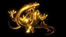 双龙戏珠,中国龙,卡通动物max模型(带动画)