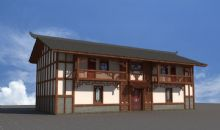瑶族建筑,古建筑,住宅,房子,室外场景max模型