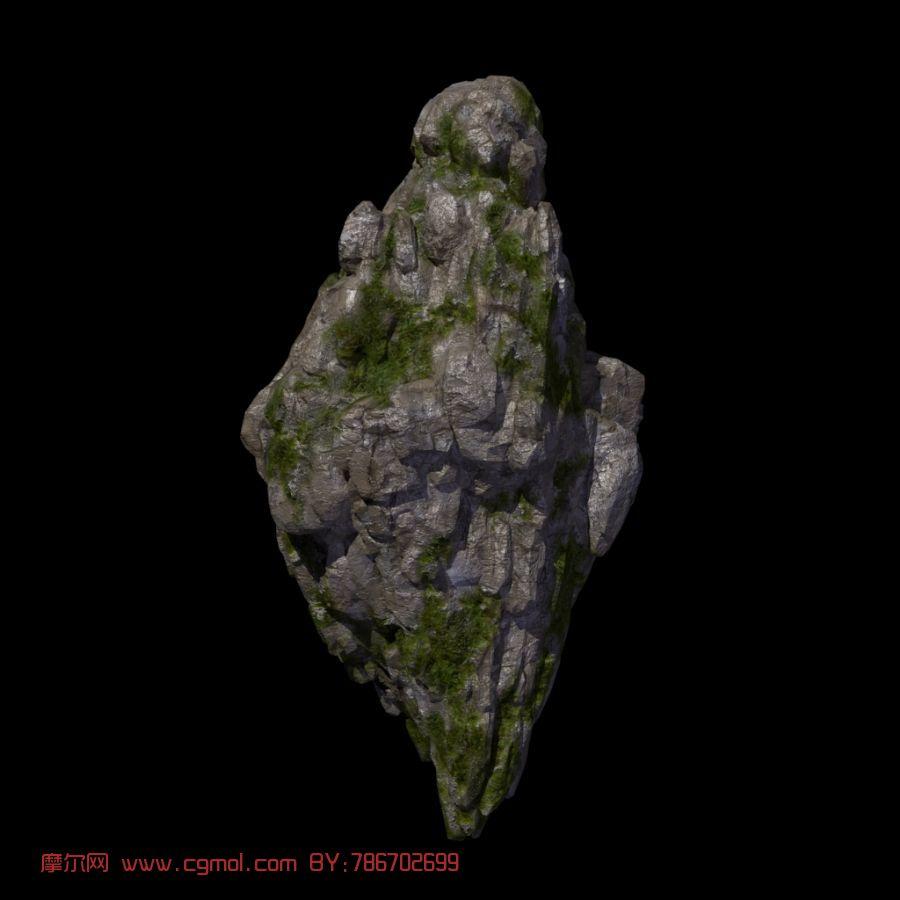 石头,山岩,自然场景maya模型
