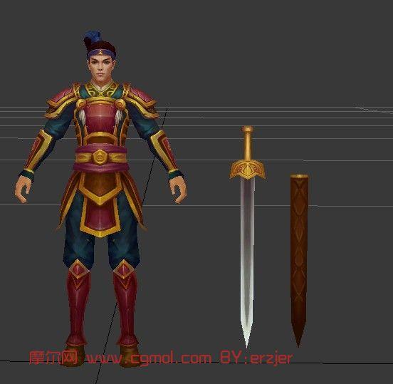 诛仙,npc,剑客,游戏角色max模型