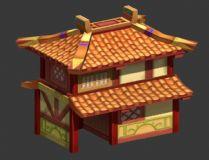 Q版房子,木屋,古建筑,卡通房子,卡通建筑,室外场景max模型