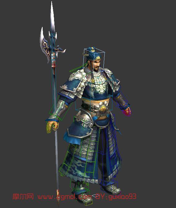 徐晃,三国,游戏角色max模型