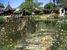 小桥流水,花园,室外场景max模型