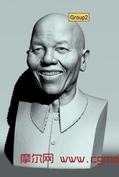 老人头部,人物雕塑max模型
