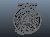 虎头,动物雕刻maya模型