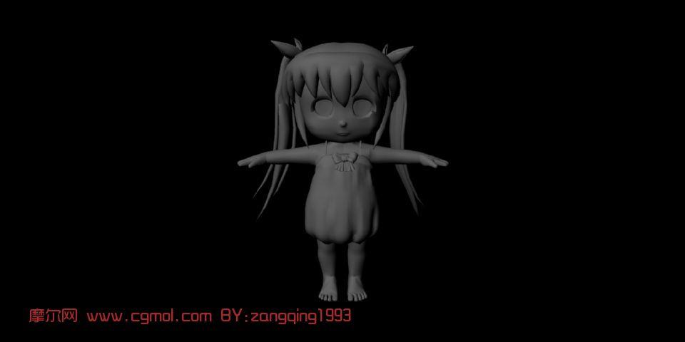 小女孩maya模型
