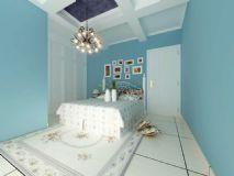 地中海风格卧室模型