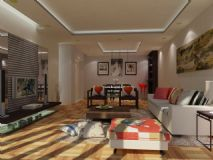 家居空间设计,客厅max模型