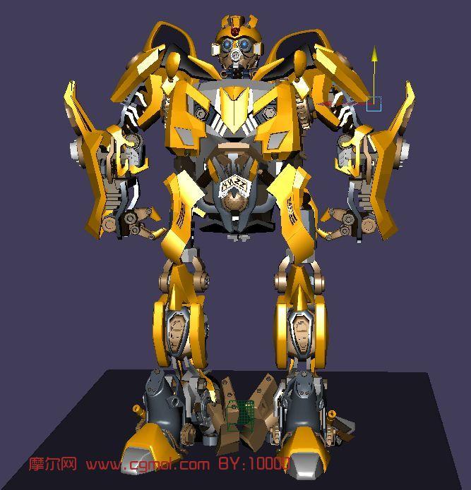 大黄蜂 变形金刚 机器人 机械角色maya模型高清图片