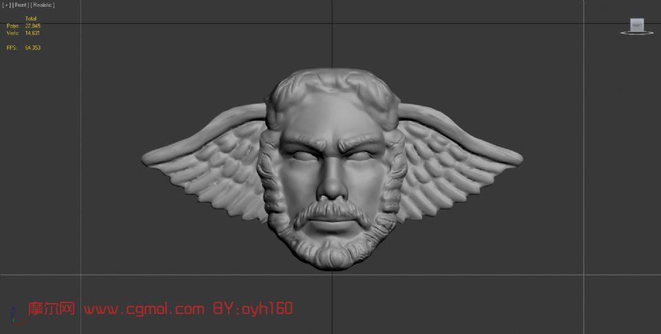 大天使面具,雕塑,家居装饰max模型