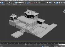 古代房屋建筑max模型