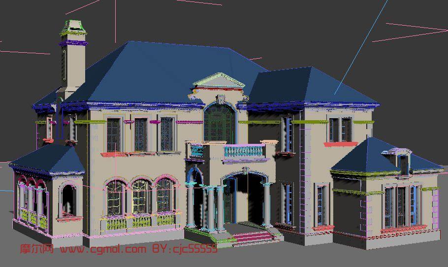 建筑模型 国外建筑  关键词:法式别墅国外建筑 作品描述: 作者其他