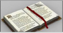 圣经书籍3D模型