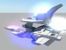 飞船 一个科幻飞行器