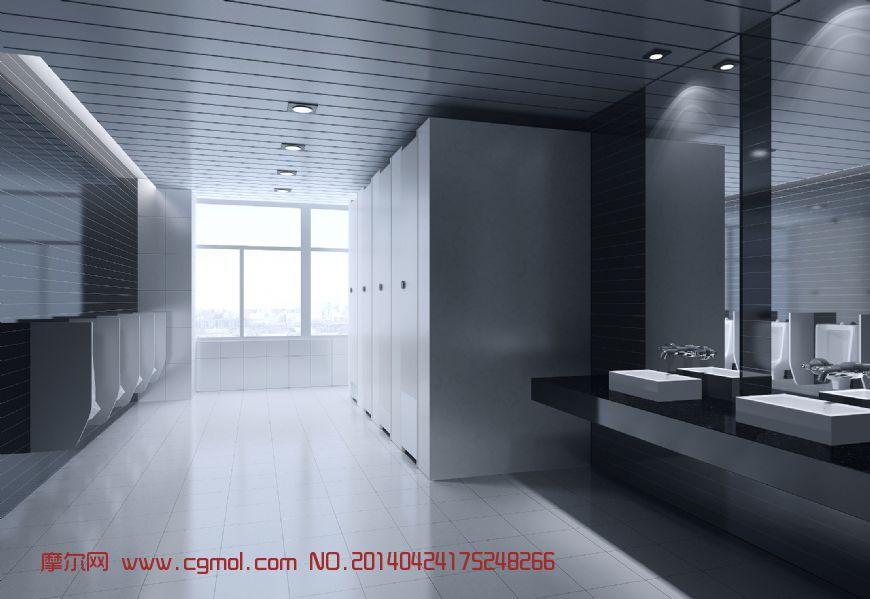 公共卫生间,整体效果,室内模型