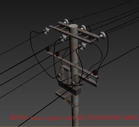电线杆,自然场景,场景模型