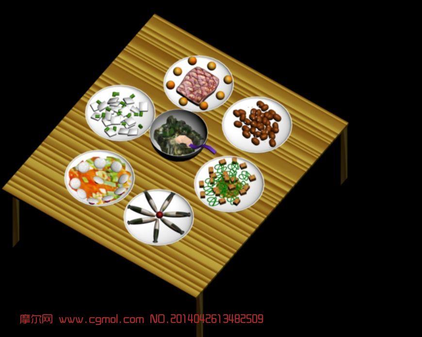 一桌美味的饭菜图片