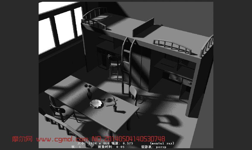 宿舍 一个室内小模型