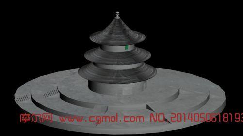 自己做的天坛,中式建筑,建筑模型,3D预算免费怎样图纸熟识员模型图片