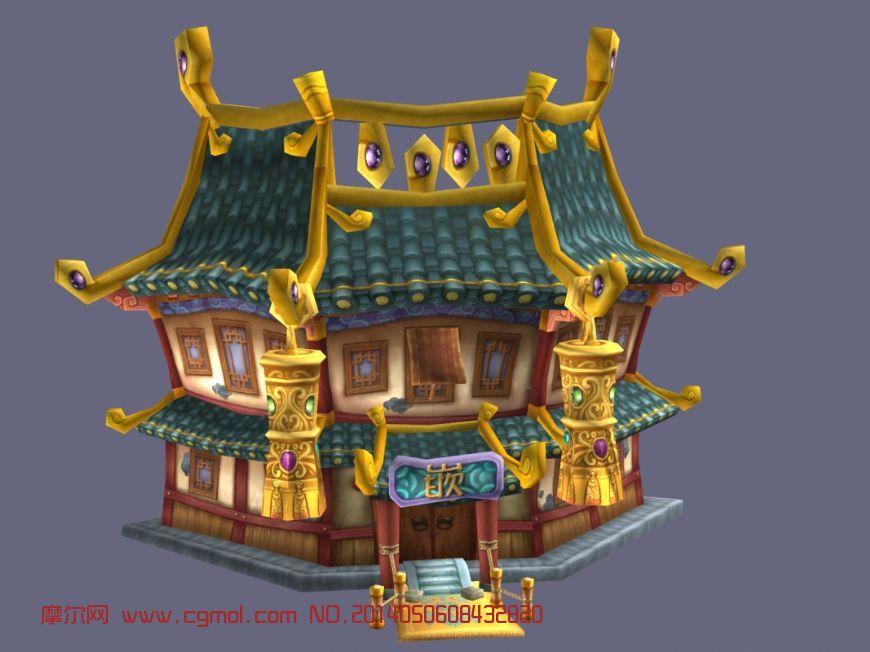 q版建筑_宫殿3d模型_其他建筑图片