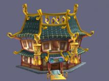 Q版建筑_宫殿3D模型