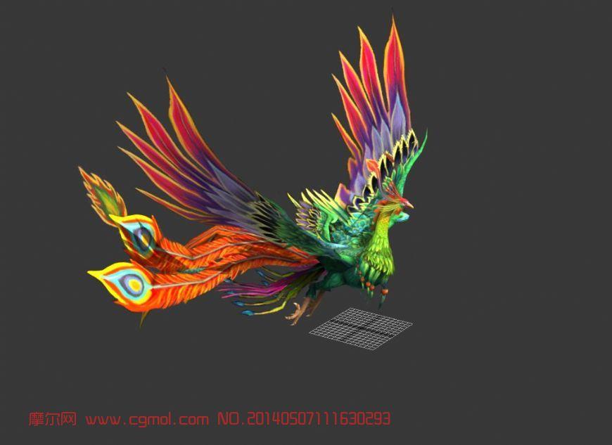 凤凰_飞禽动物_动物模型