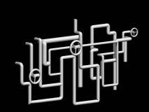 错综复杂的管道模型