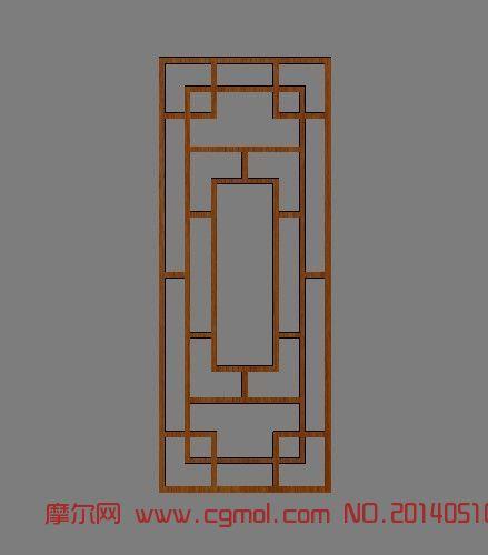 中式窗花_家居装饰_室内模型