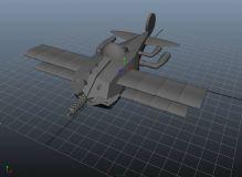 maya机械飞机