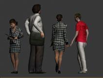 职工 商务女 人物模型