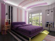 梦幻紫色格调卧室