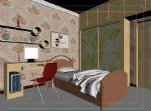儿童房 卧室模型