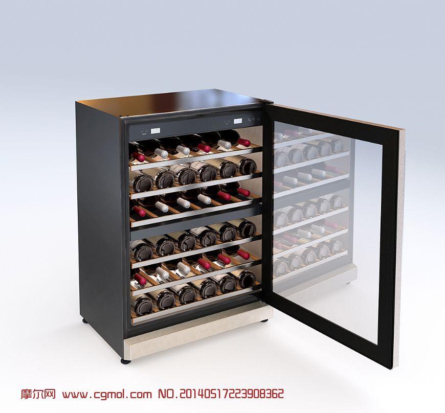 酒柜3d模型_家用电器_电子电器