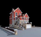 单体别墅3D模型