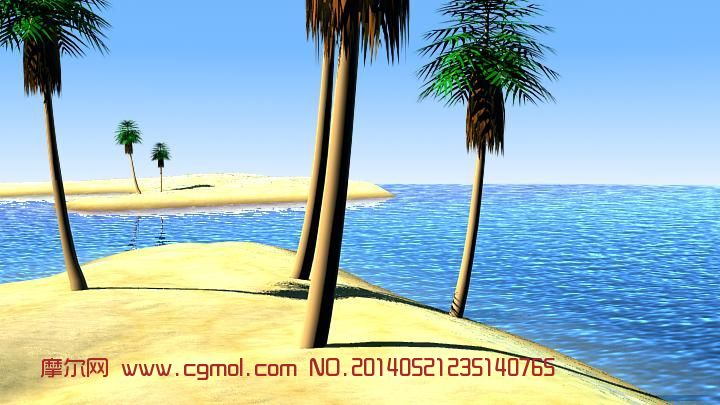 海岛摄像机动画_自然场景