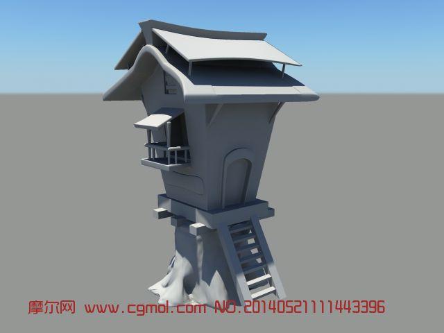 长房子maya 3d模型 古代场景 场景模型 高清图片