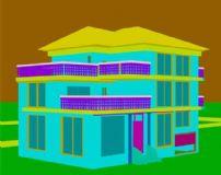 双层大别墅3D模型