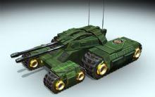 四驱坦克3D模型