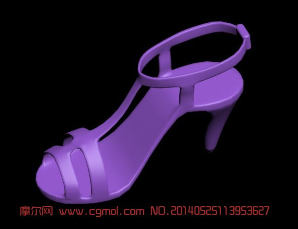 高跟鞋 女士夏季凉鞋3D模型