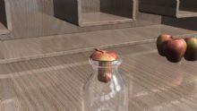 苹果入瓶 圆柱体空间扭曲