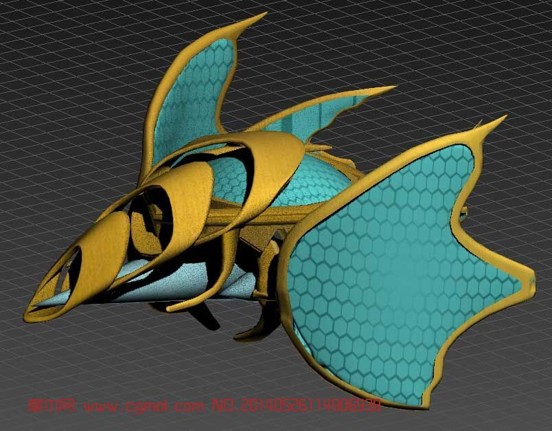 原创作品: 小蜜蜂飞碟 科幻飞行器