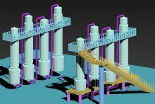 降膜蒸发器3D模型