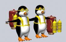 潜水企鹅3D模型