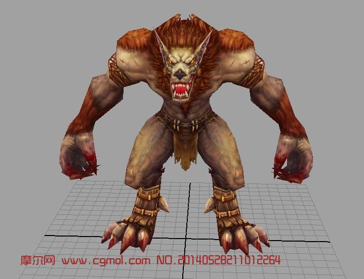 狼人_爬行动物_动物模型
