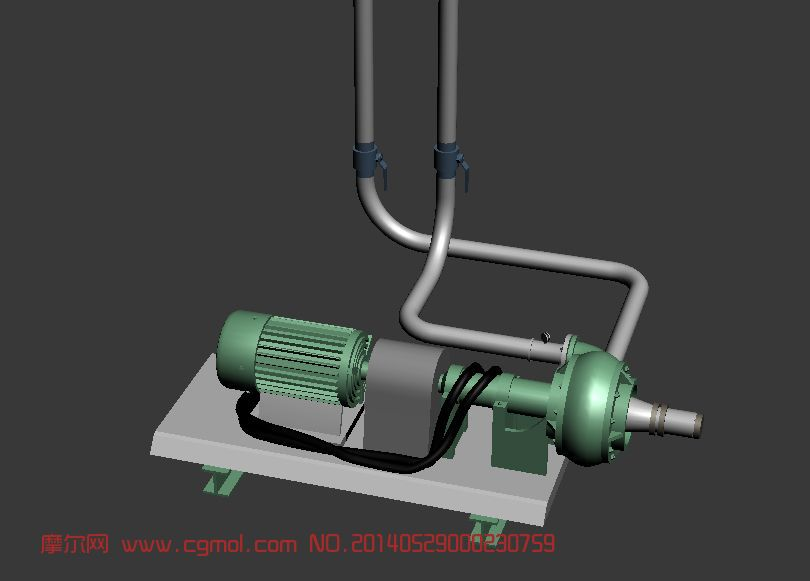 原创作品: 马达抽水泵