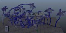 热带海边小屋3D模型