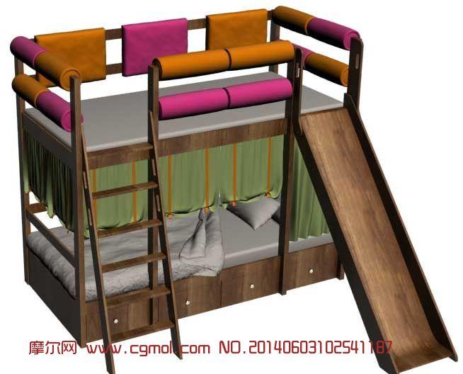 儿童上下床3d模型_室内家具